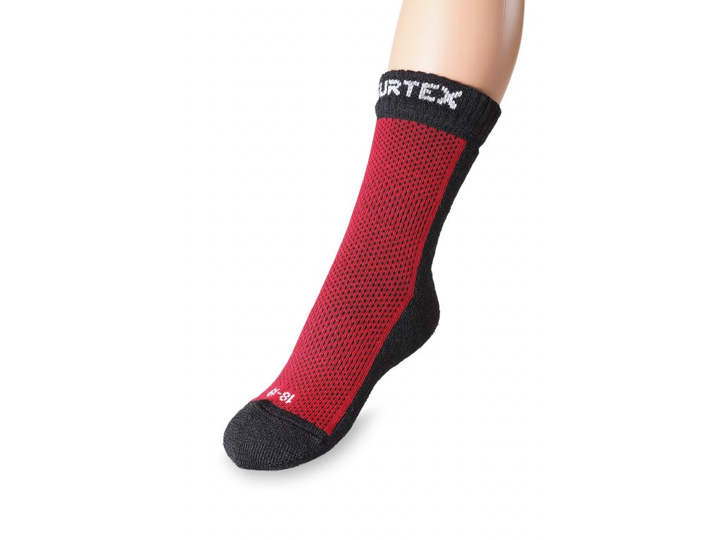detske ponozky 80% merino, cervene (4)