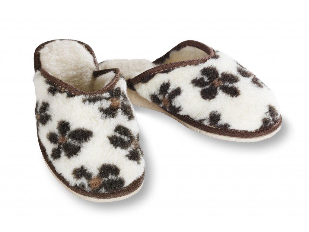 teplé dámské pantofle
