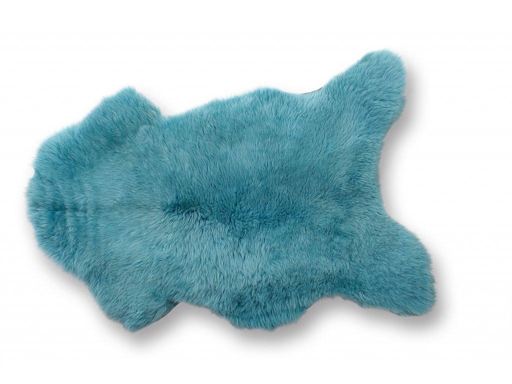 Ovčí kůže tyrkysová 85 x 60 cm