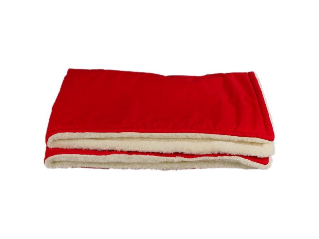 zimni deka merino cervena