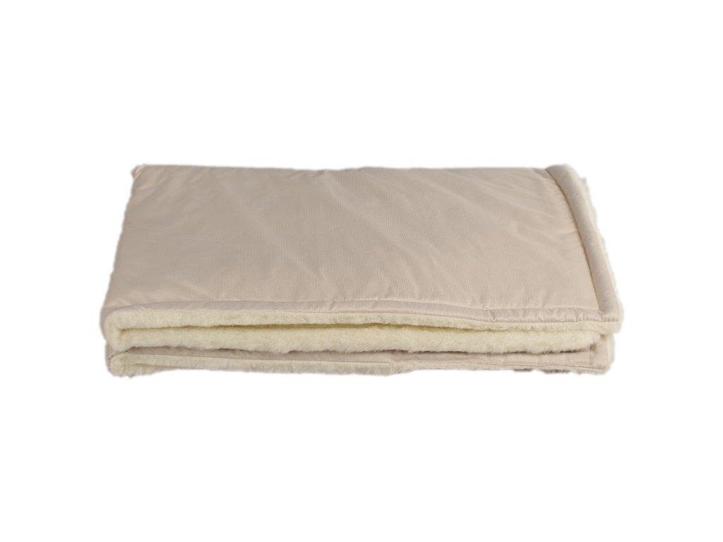 zimni deka merino bezova
