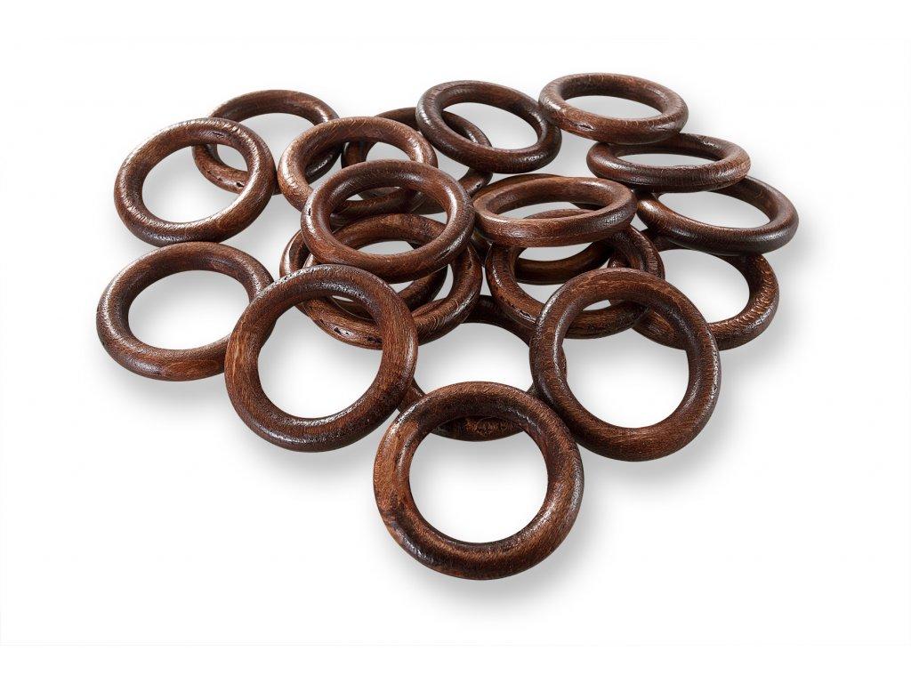 dřevěné kroužky mahagon (2)
