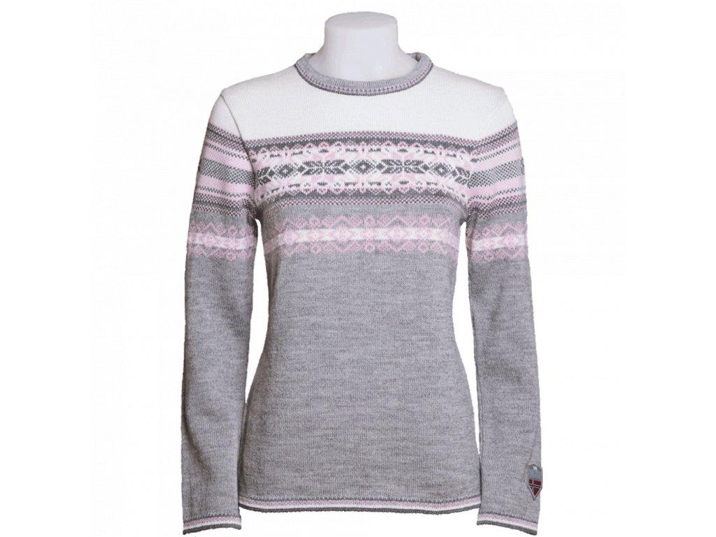norský svetr šedý