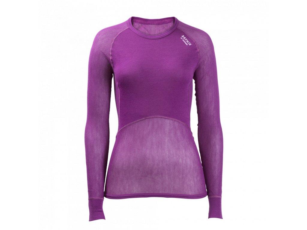 492e90f4070 Dámské funkční triko dlouhý rukáv fialová