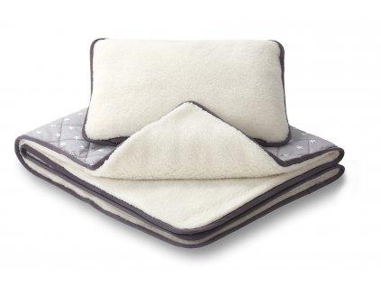 polštář s dekou merino