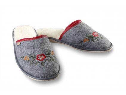 pantofle vlněné filcové