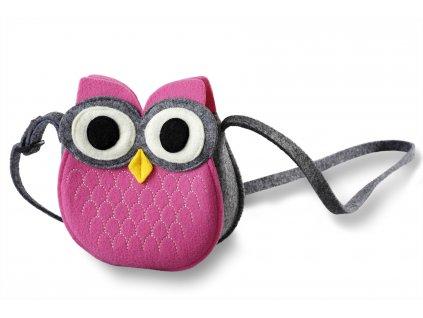 filcová kabelka sovička