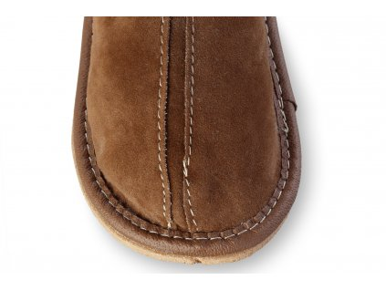 Papuče děti kozene sede
