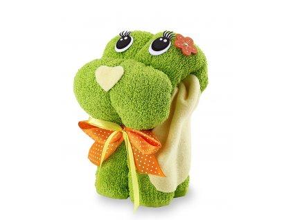 froté ručník zelený pes (2)