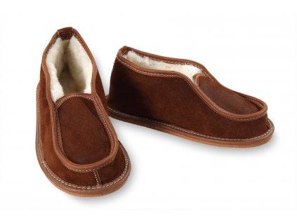 papuče kožené s patou (2)