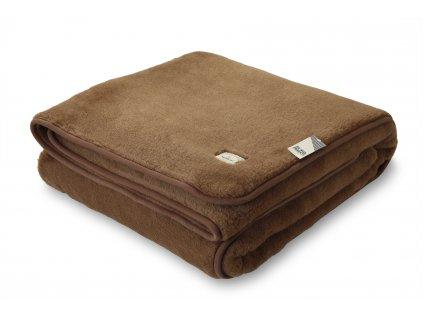 Vlněná deka oboustr. 200x215 cm, Camello, kávová (2)