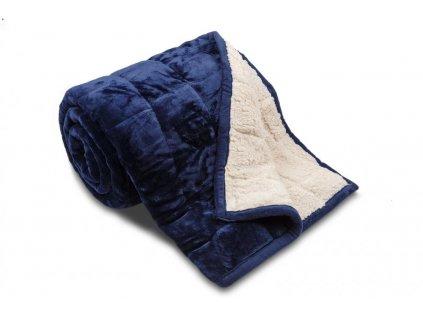 deka z mikrovlákna modrá