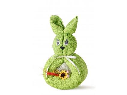 králíček zelený s mašlí (2)