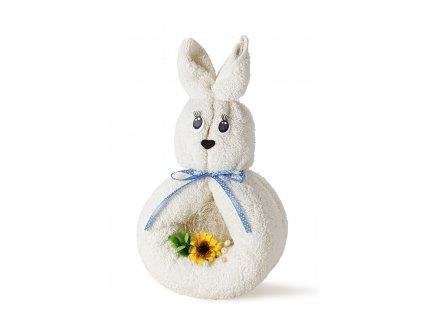 králíček bílý s modrou mašlí (2)