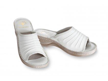 pantofle kožené s vroubky