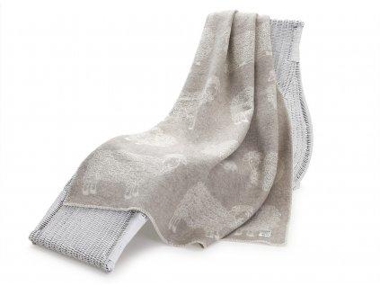 vlněná deka beránek světle hnědý 1