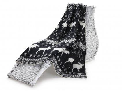 vlněná deka sob černobílý 1