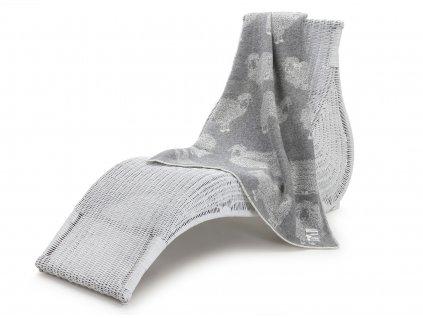 vlněná deka pro děti ovečka šedá 1