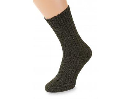 Ponožky Merino, khaki