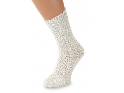 Ponožky Merino, krémově bílá