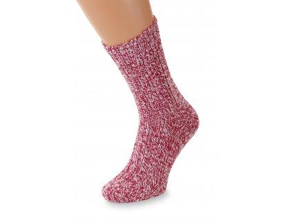 Ponožky Merino, sytě růžové