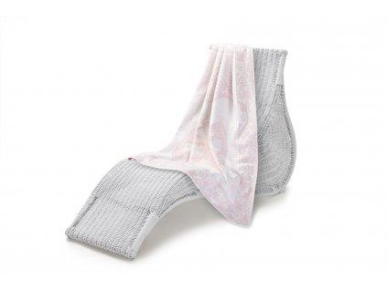 Jednostranná deka dětská bavlna, 100x140 cm, růžová sova (6)