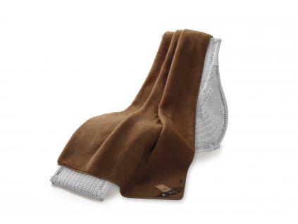 Jednostranná deka, camel 140x200 cm, hnědá (5)