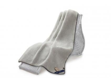 Jednostranná deka, australian merino 140x200 cm 600g šedá (5)