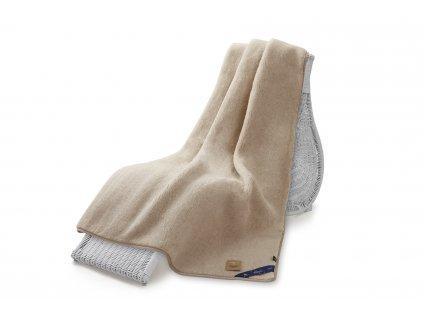 Jednostranná deka, australian merino 140x200 cm 600g béžová (5)