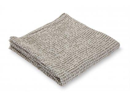 Jemný waflový ručník, šedý
