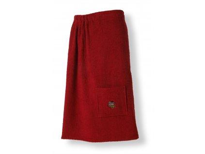 Dámská saunová zástěra, červená
