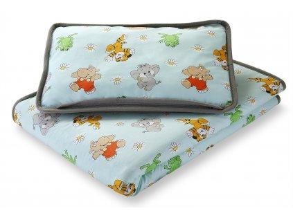 Set polštář a přikrývka dětská, alpaca + bavlna (3)