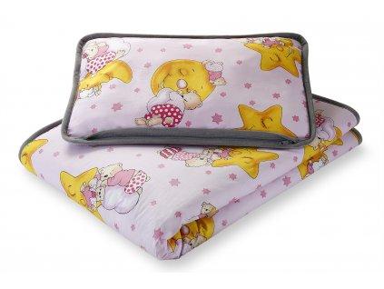 Set polštář a přikrývka dětská, alpaca + bavlna, (3)