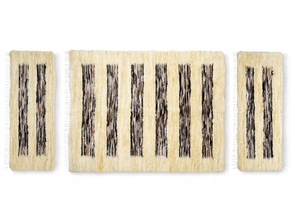 Sada předložek z kůží, světlá, tkaná, 3ks v balení (9)