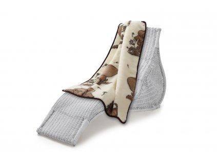 Vlněná deka dětská 135x100 cm, slon (5)