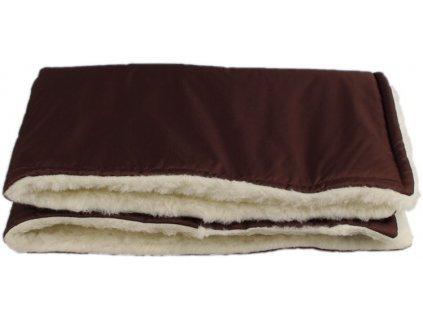 zimni deka merino hneda