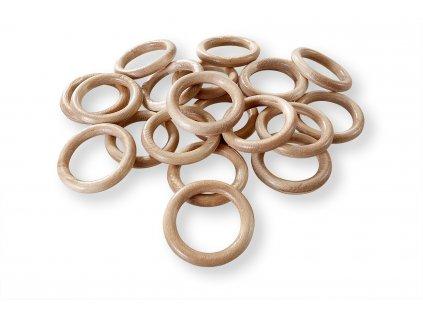 dřevěné kroužky bukové