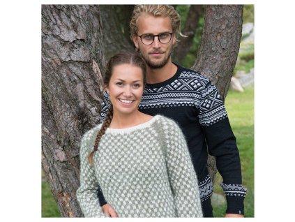norsky svetr vrikke hovden cerny 100 merino vlna (1)