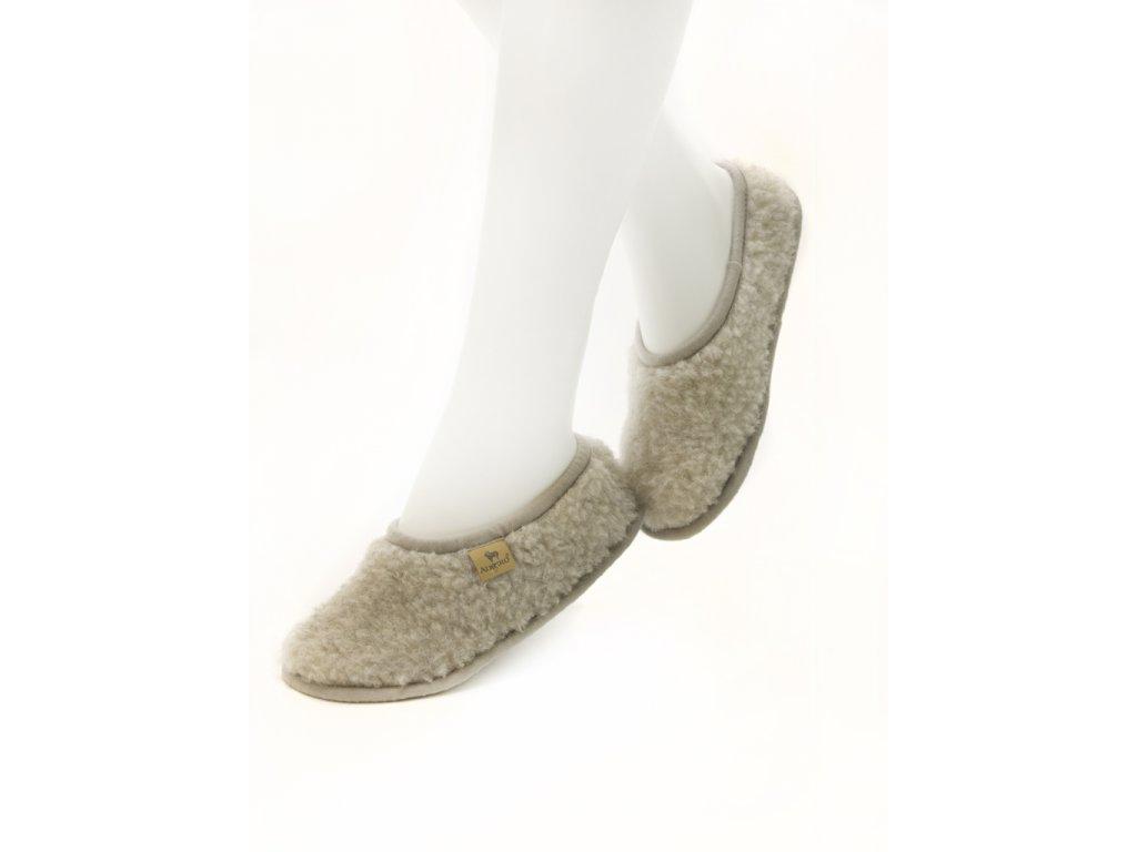 balerinky z ovčí vlny šedá