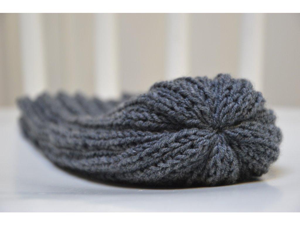 pletená čepice pánská