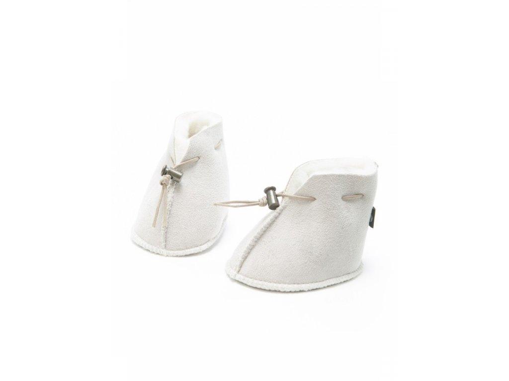 vlněné botičky bílé