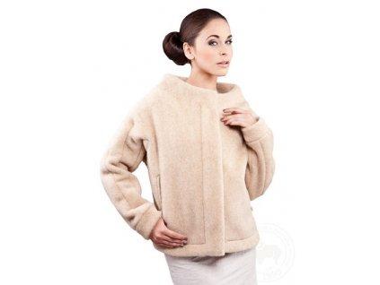 Vlněný kabátek ELIZABETH beige