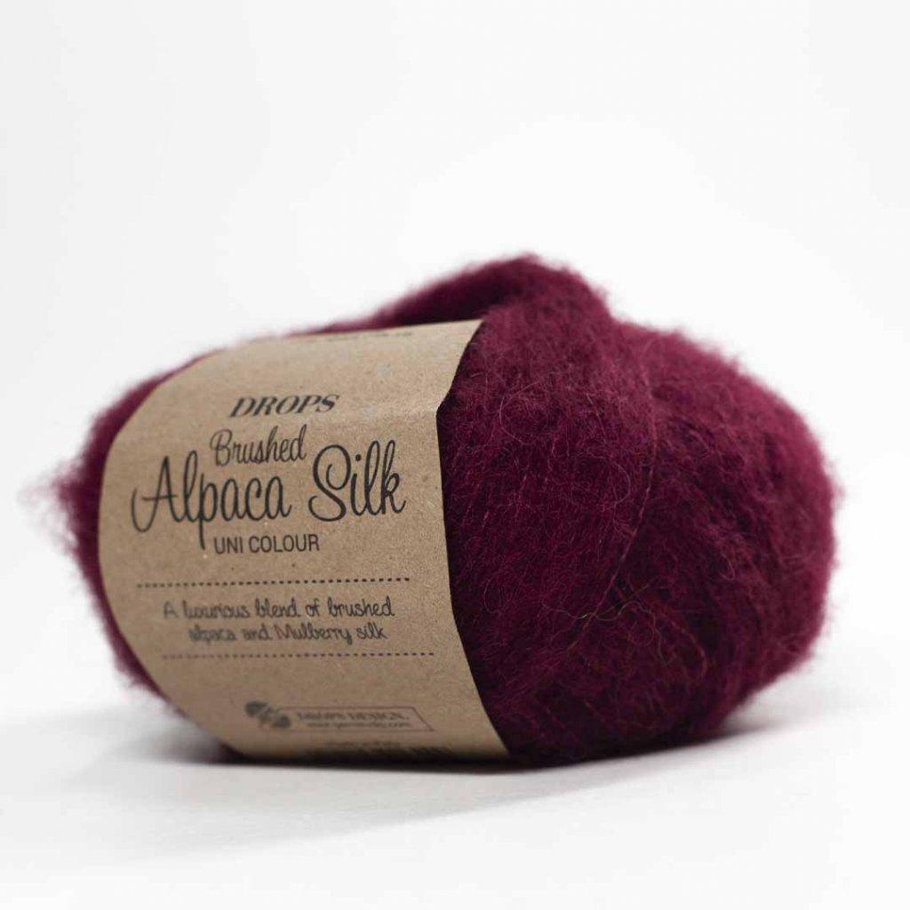 Drops Brushed Alpaca Silk 23 - bordó