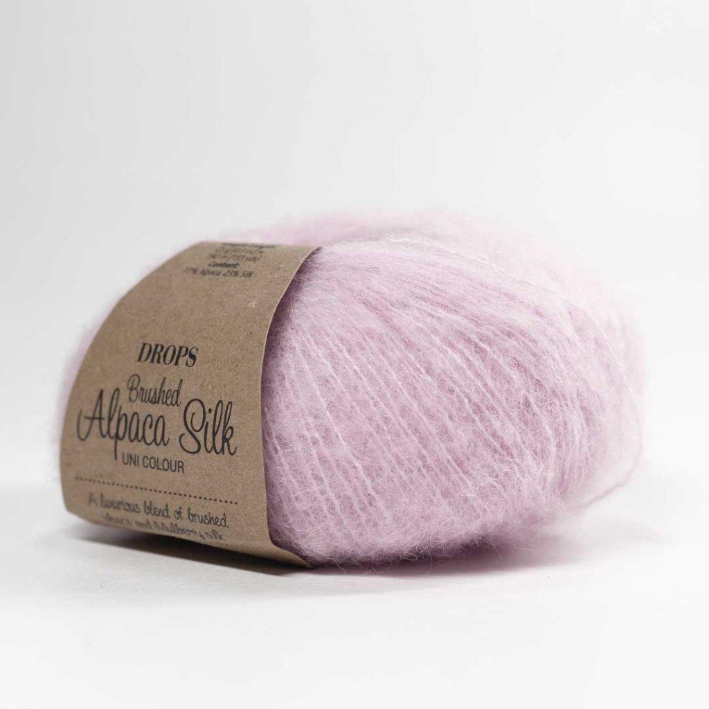 Drops Brushed Alpaca Silk 12 - pudrově růžová