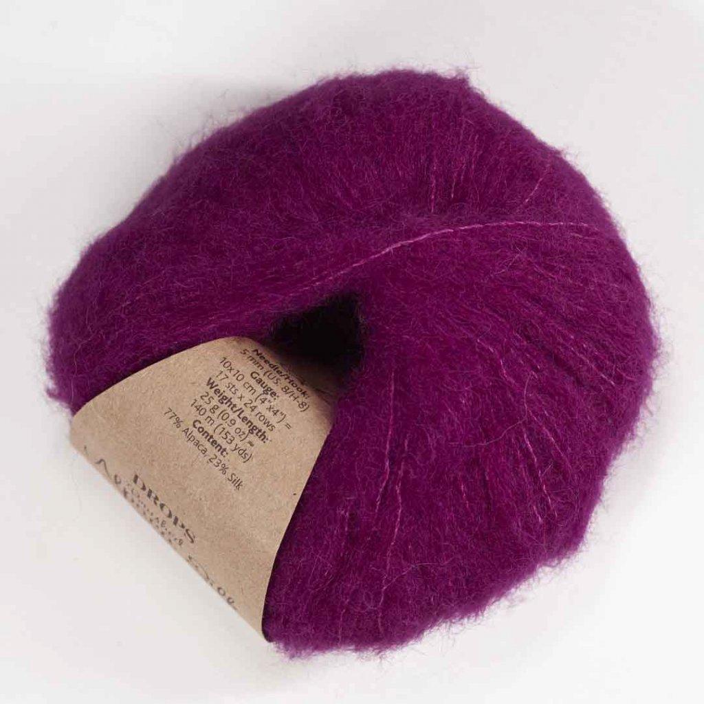 Drops Brushed Alpaca Silk 09 - fuchsie