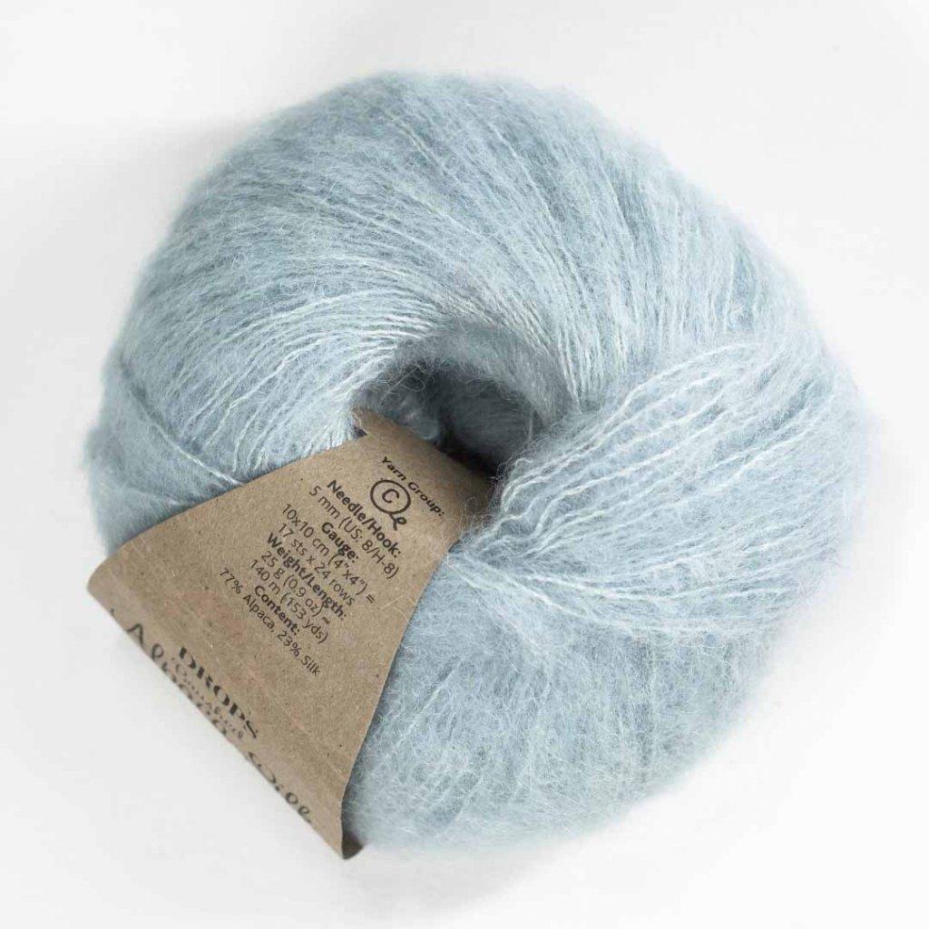 Drops Brushed Alpaca Silk 14 - světlá šedozelená