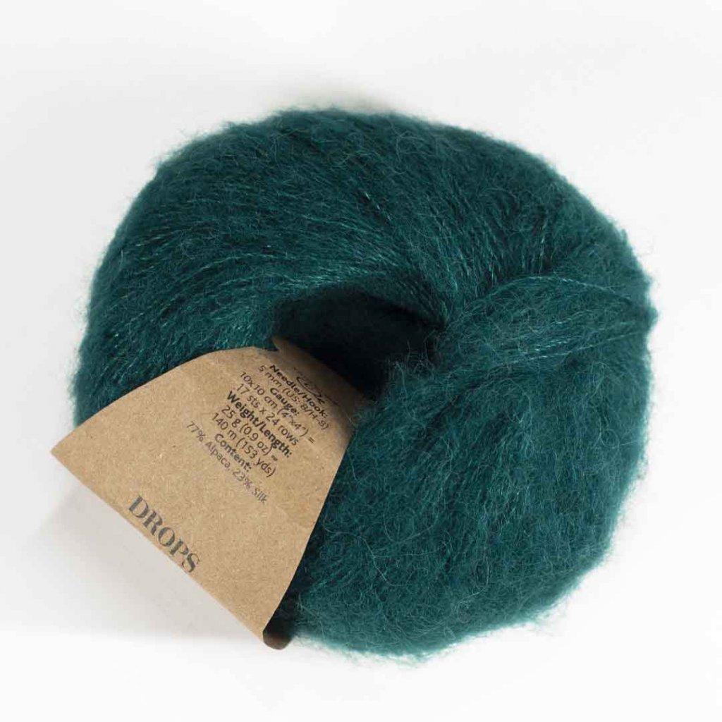 Drops Brushed Alpaca Silk 11 - tmavá zelená