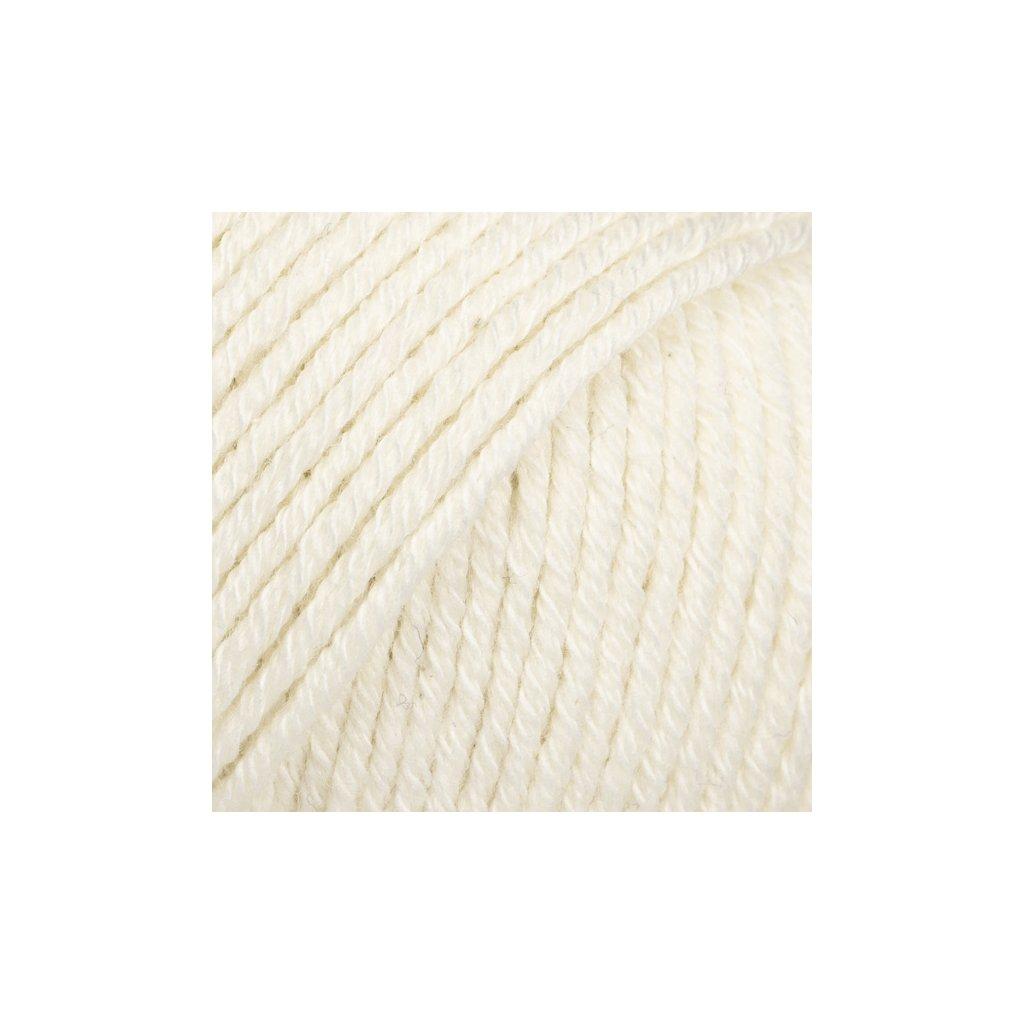 Drops Cotton Merino 01 - smetanová