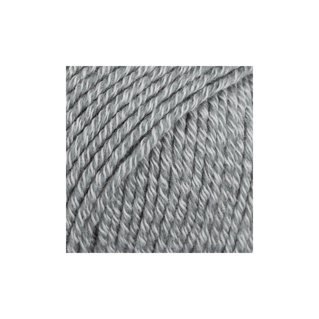 Drops Cotton Merino 18 - šedá