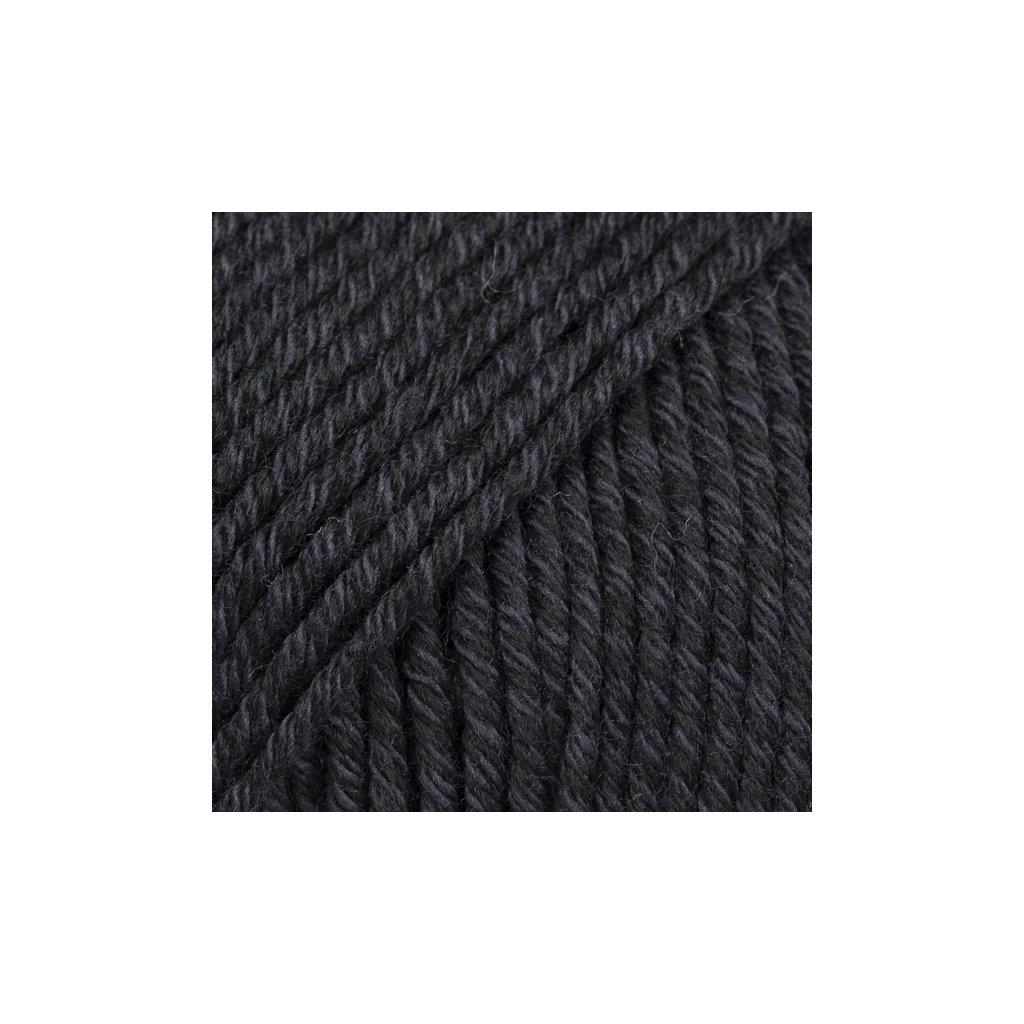 Drops Cotton Merino 02 - černá